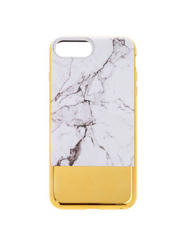 Marble & Gold Protective Phone Case by Claire's