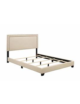 Pulaski Cream Upholstered Bed With Nail Head Trim, Queen by Pulaski