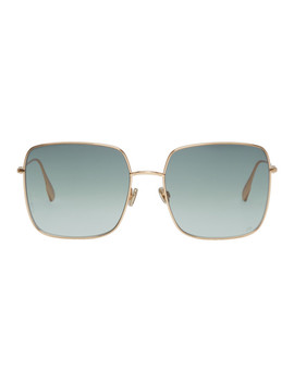 Gold & Grey 'dior Stellaire 1' Sunglasses by Dior Homme