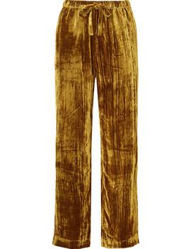 Aileen Crushed Velvet Pants by Stine Goya