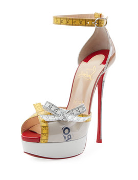 Metricathy Measuring Tape Red Sole Pumps by Christian Louboutin