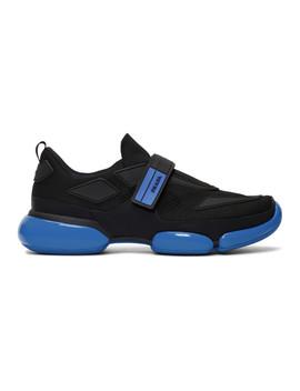 Black & Blue Cloudbust Sneakers by Prada