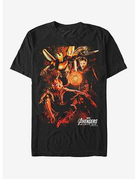 marvel-avengers:-infinity-war-group-glow-t-shirt by hot-topic