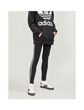 3 Stripes Stretch Cotton Jogging Leggings by Adidas Originals