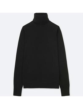 Women Extra Fine Merino Turtleneck Jumper by Uniqlo