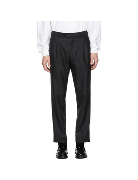 Grey Prince Of Wales Trousers by Burberry