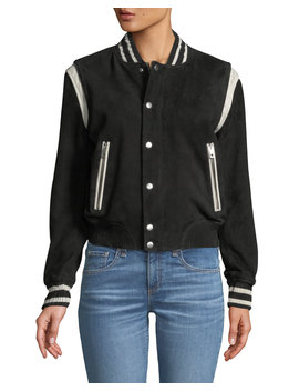 Baela Suede Bomber Jacket by Rag & Bone