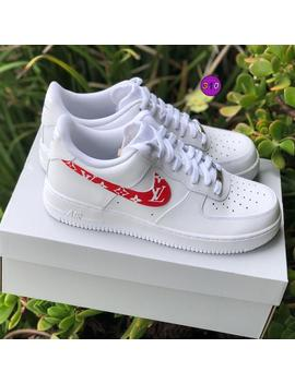"Air Force 1 Low ""Supreme Louis Vuitton"" Customs by Etsy"