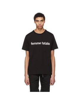 Black 'femme Fatale' T Shirt by Takahiromiyashita Thesoloist.