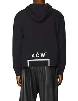 Logo Print Cotton Terry Hoodie by A Cold Wall*
