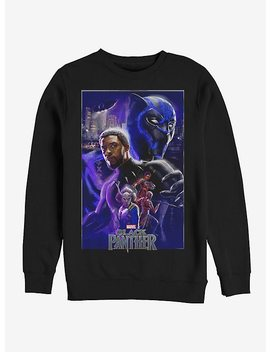 Marvel Black Panther 2018 Character Collage Girls Sweatshirt by Hot Topic