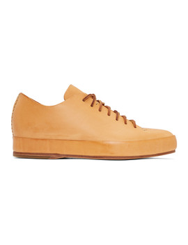 Tan Hand Sewn Low Sneakers by Feit