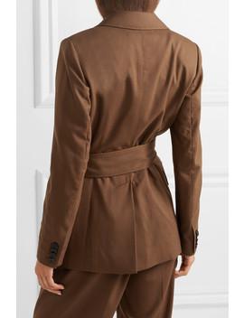 Belted Wool Blazer by Casasola