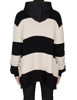 Striped Wool Blend Chenille Oversized Cardigan by Amiri