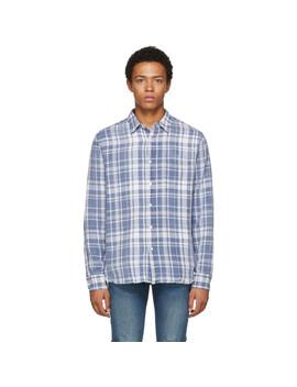 Blue Plaid Shirt by Frame