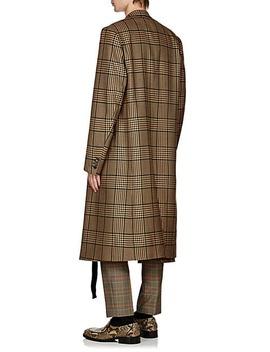 Glen Plaid Wool Blend Coat by Dries Van Noten