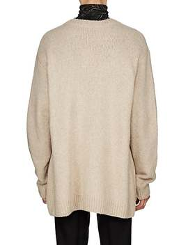 Oversized Merino Wool Blend Cardigan by Dries Van Noten