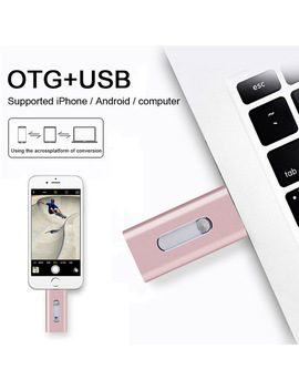 New Style Usb Flash Drive For I Phone 7 7 Plus 6 5 5 S Ipad Android Metal Otg Usb Flash Drive 8gb 32gb 64gb Pendrive by Suntrsi