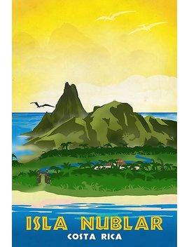 Isla Nublar   Retro Jurassic Park Travel Poster by Forge22