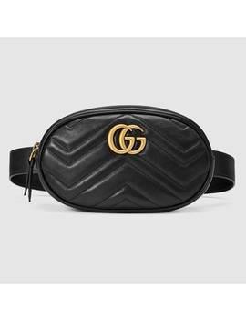 Bolsa Con Cinturón Gg Marmont De Piel Matelassé by Gucci