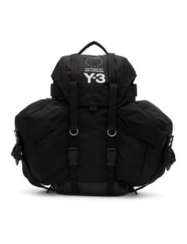 Black Utility Backpack by Y 3