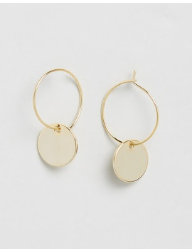 Mini Coin Hoop Earrings by Orelia London
