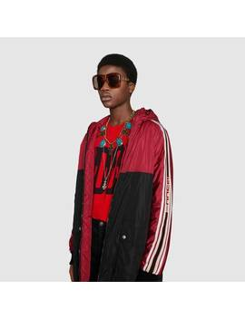 Nylon Coat With Gucci Stripe by Gucci