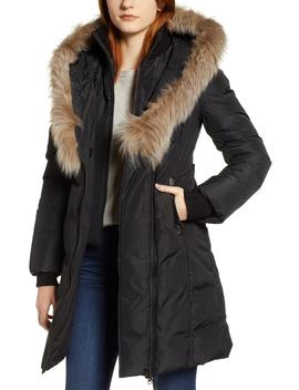 800 Fill Power Down Coat With Genuine Fox Fur Trim by Mackage