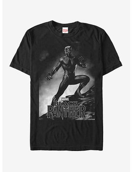 Marvel Black Panther 2018 Grayscale Pose T Shirt by Hot Topic