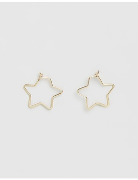 Small Star Hoop Earrings by Orelia London