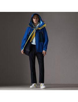 Tri Tone Nylon Hooded Jacket by Burberry