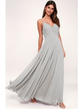 All About Love Light Grey Maxi Dress by Lulus