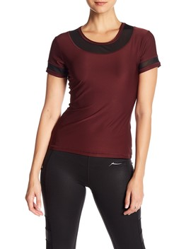 Solo Mesh Panel Active Tee by X By Gottex