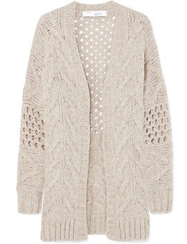 Air Cable Knit Wool Blend Cardigan by Iro