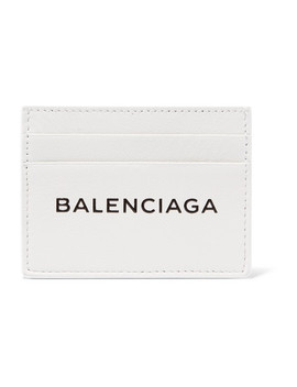 Everyday Printed Textured Leather Cardholder by Balenciaga