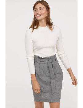 Skirt With Bow Tie by H&M