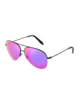 Metal Aviator Sunglasses With Mirror Lenses by Victoria Beckham