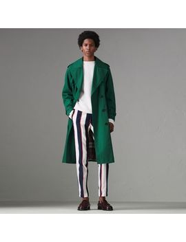 Striped Cotton Wool Blend Tailored Trousers by Burberry