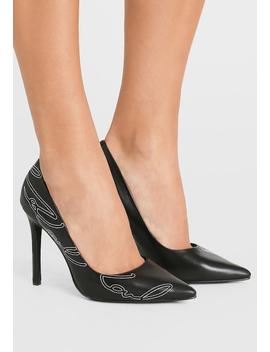 Manoir Hi Signature Court   High Heels by Karl Lagerfeld