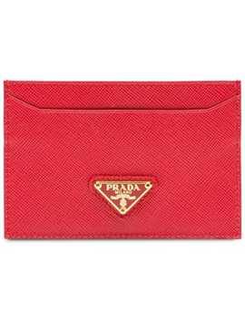 Leather Cardholder by Prada