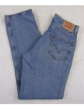 Levi's 550 Relaxed Fit Jeans Men's W31 X L34 100 Percents Cotton by Levi's