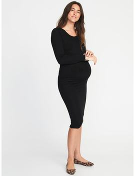 Maternity Sweater Knit Bodycon Midi Dress by Old Navy