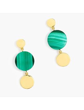 Demi Fine 14k Gold Plated Malachite Earrings by J.Crew