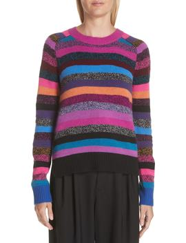 Tie Back Stripe Cashmere Sweater by Marc Jacobs