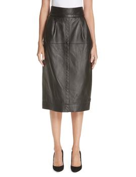 Leather Midi Skirt by Marc Jacobs