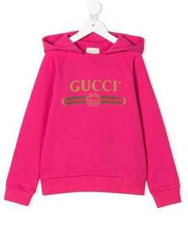 Gucci Logo Print Hoodie by Gucci Kids
