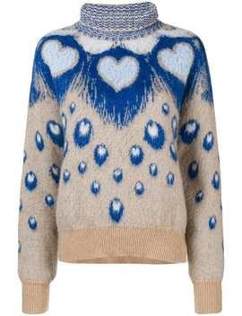Heart Intarsia Turtleneck Sweater by Just Cavalli