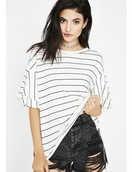 Anything But Basic Striped Tee by Audrey 31