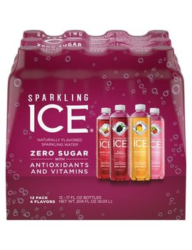 Sparkling Ice Variety Pack, 17 Fl Oz, 12 Count (Kiwi Strawberry, Orange Mango, Cherry Limeade, Black Raspberry) by Sparkling Ice