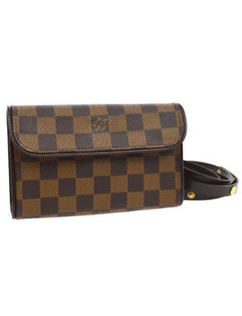 Auth Louis Vuitton Pochette Florentine Bum Bag Waist Pouch Damier N51856 S07859 by Louis Vuitton